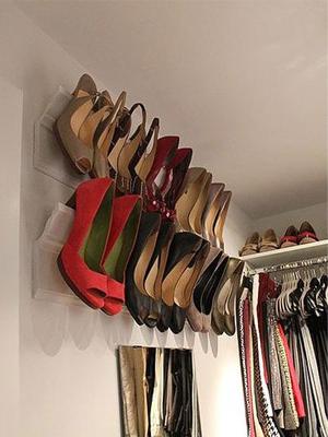 鞋多房子小利用墙壁巧收纳
