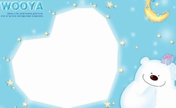 月亮卡通熊儿童摄影背景图