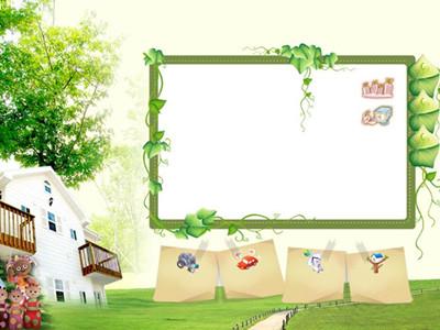 花园宝宝儿童摄影背景图