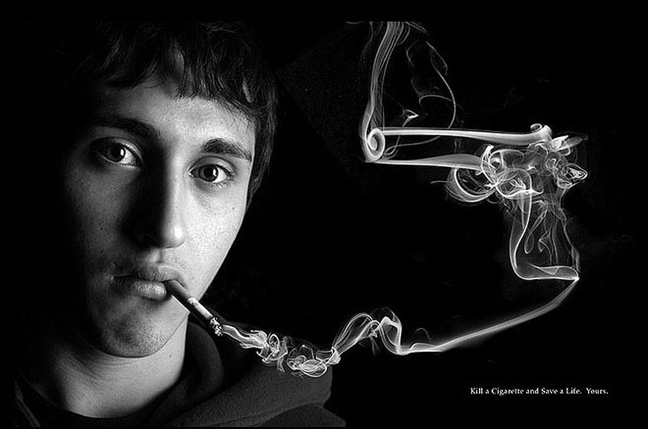 触目惊心的禁烟广告