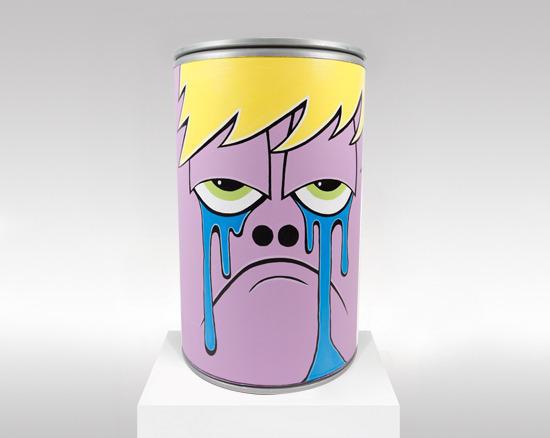 greg mike的手绘卡通易拉罐,每一个表情都很搞怪,可爱.