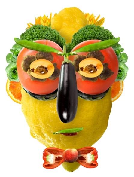 生活中充满了乐趣,平时的蔬菜水果也能变身有趣的造型哦!