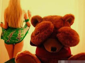 熊熊都害羞了