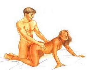 視覺強烈的做愛體位:后入式進入1